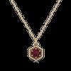Loie 14K Yellow Gold Rhodalite Garnet Necklace