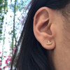 Ethical Diamond Yellow Gold Ivy Leaf Earrings