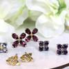 Ethical Gemstone Pear Cut Flower Earrings