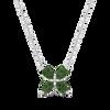 Ethical Gemstone Pear Cut Flower Necklace