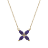 Marquise Cut Ethical Gemstone and Recycled Gold Flower Necklace