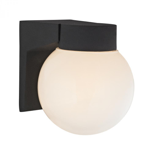 1 Light Outdoor Wall Sconce In Matt Black 6x7 9201EW/65