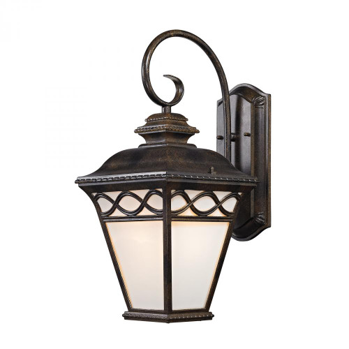 Mendham 1 Light Coach Lantern  In Hazelnut Bronze 9x19.25 8561EW/70