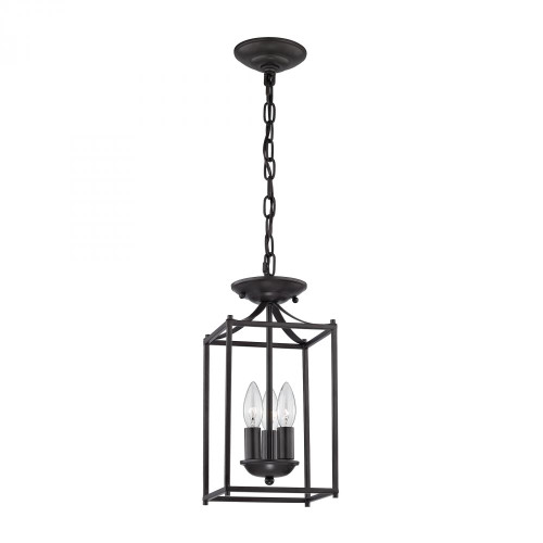 Foyer Collection 3 Light Pendant In Oil Rubbed B 7x14.75 7713FY/10