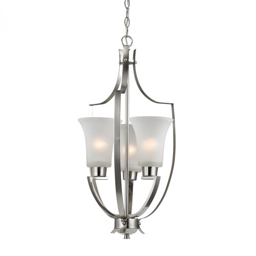 Foyer Collection 3 Light Pendant In Brushed Nick 14.5x27 7703FY/20