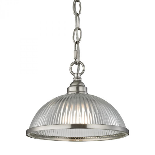 Liberty Park 1 Light Pendant In Brushed Nickel 8.75x6.5 7661PS/20