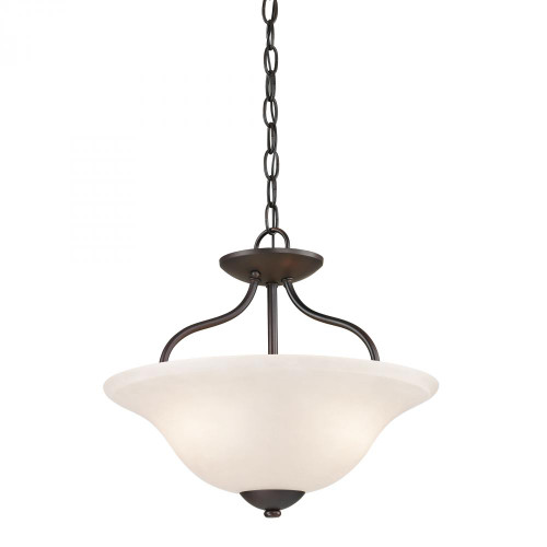 Elk Cornerstone Conway 2 Light Bronze Semi-Flushmount Ceiling Light-1252CS/10