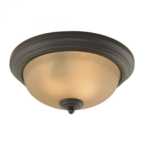 Huntington 2 Light Ceiling Lamp In Oil Rubbed Br 13x3.5 7003FM/10