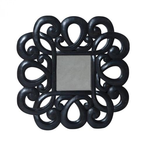 Curled Antiqued Beveled Mirror 103504
