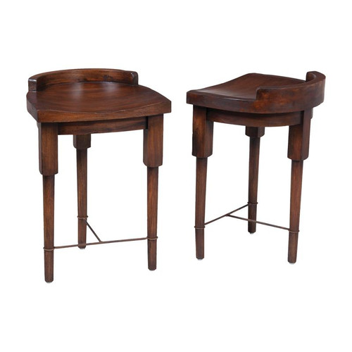 European Farmhouse Counter Stool In Deep Forest Stain 654002