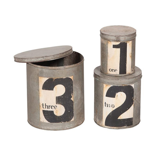 Round Metal Nesting Tins 202006S