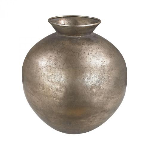 Bulbous Metal vase 2100-003