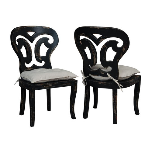 Artifacts Side Chairs In Vintage Noir - Set of 2 694509P