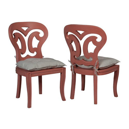Artifacts Side Chairs In Manor Melon - Set of 2 694510P