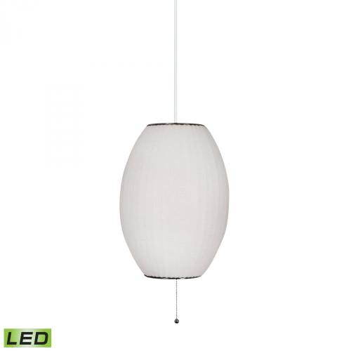 Cigar LED Pendant In White 401-LED
