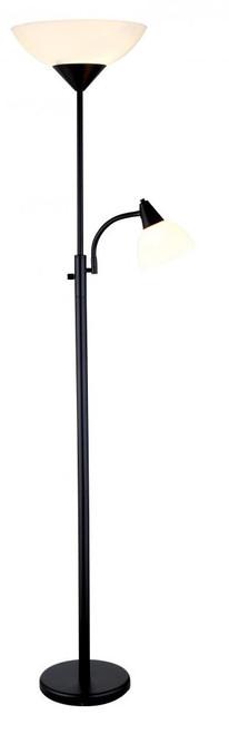 piedmont combo floor lamp in black - Adesso Floor Lamp