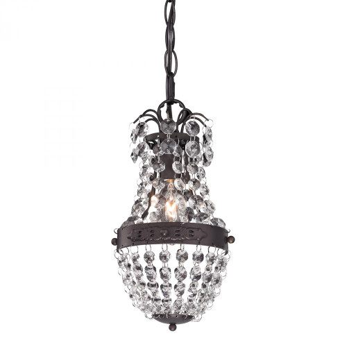 Clear Crystal Mini Pendant With Bronze Banding 122-016
