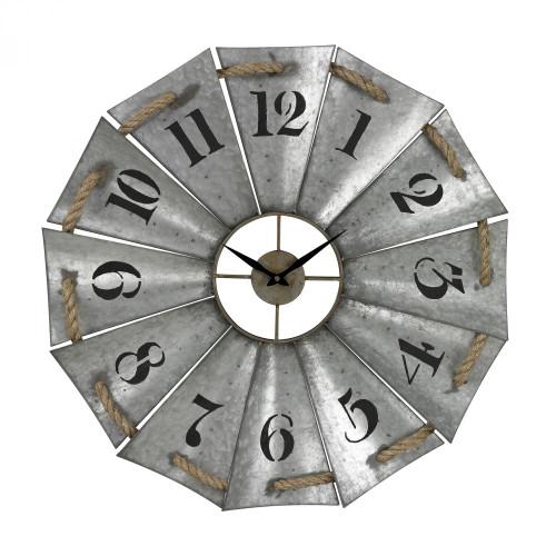 Aluminum And Rope Wall Clock 129-1091