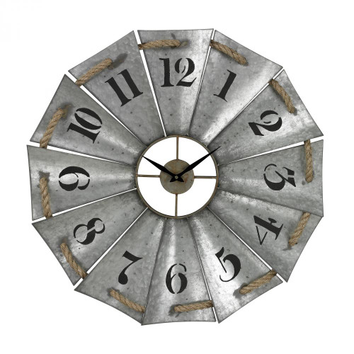 Aluminum And Rope Wall Clock 129-1091
