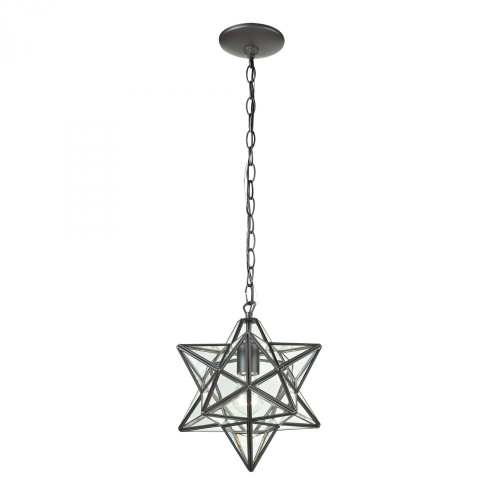 Star Star-1Light Glass Pendant Lamp 9x10 145-001