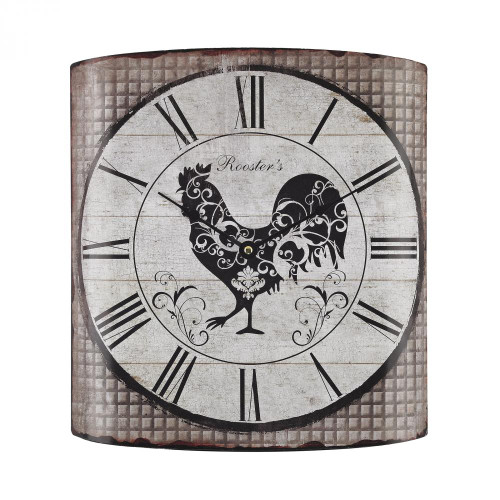 Stylized Rooster Wall Clock 171-008
