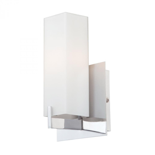 Moderno 1 Light Sconce In Chrome And White Opal Glass BV281-10-15