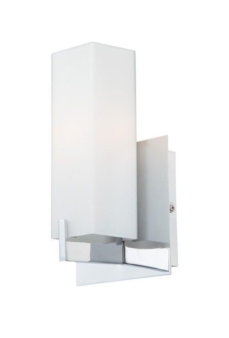 Moderno 1 Light Sconce In Matte Satin Nickel And White Opal Glass BV281-10-16M