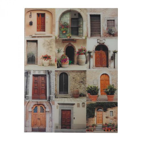 Door Collage II-Door Collage Photography Printed On Glass 51-10125