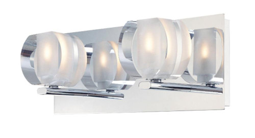 Circo 2 Light Vanity In Chrome And Polished Clear Glass BV302-90-15
