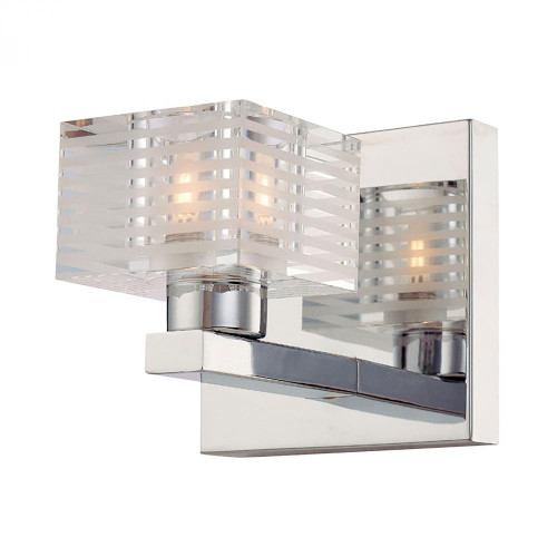 Quatra 1 Light Vanity In Chrome And Clear Glass BV311-90-15