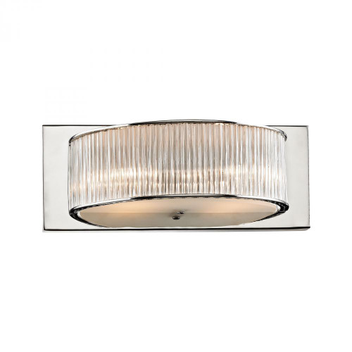 Somerset 2 Light Vanity In Crystal Glass And Chrome BV361-0-15