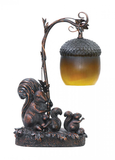 Squirrel Acorn Mini Accent Table Lamp 91-768