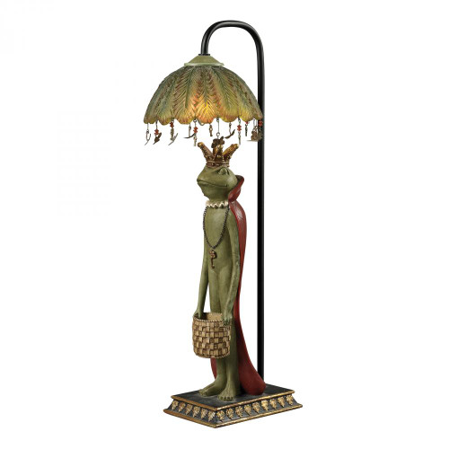 King Frog With Basket Accent Lamp 93-19334
