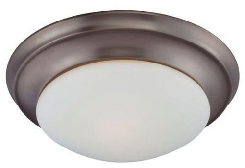 Essentials 4.75in Two-light ceiling flush mount in Oiled Bronze finish with etched glass 190033715