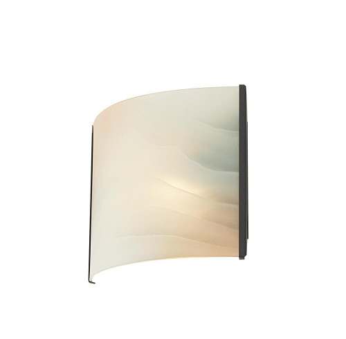 Pannelli 1 Light Vanity In Oil Rubbed Bronze And Hand-Molded Honey Alabaster Glass BV711-HM-45