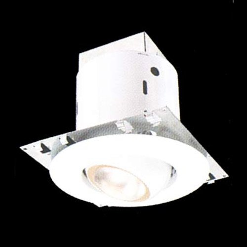 """Recessed kit includes 5"""" non-IC housing white adjustable eyeball trim. DY6410"""