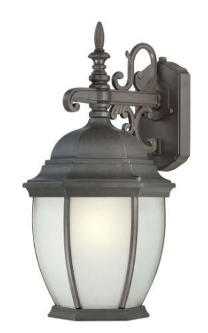 COVINGTON 18in One-light fluorescent die-cast aluminum outdoor wall lantern in Painted Bronze finish PL922963