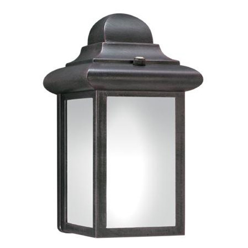 WINDBROOK 9in One-light fluorescent die-cast aluminum outdoor wall lantern in Painted Bronze finish PL948063