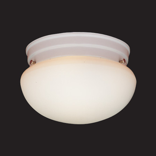 One-light ceiling fixture in White finish with white glass. SL3258