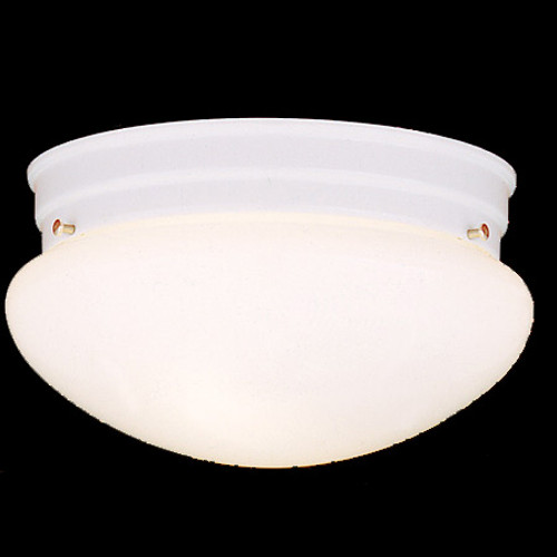 Two-light ceiling fixture in White finish with white glass SL3268