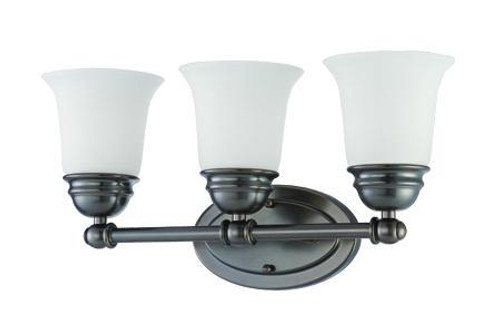 Bella 9in Three-light bath fixture in Oiled Bronze finish with etched glass SL714315