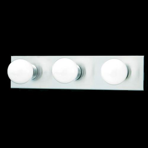 Three-light bath fixture in a Brushed Nickel finish. SL741378