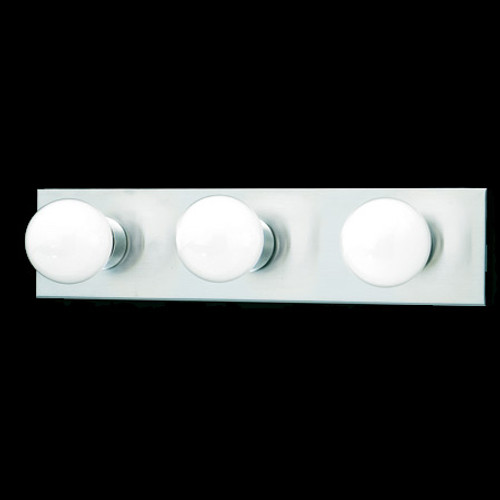 Three-light bath fixture in a Brushed Nickel finish. SL741378