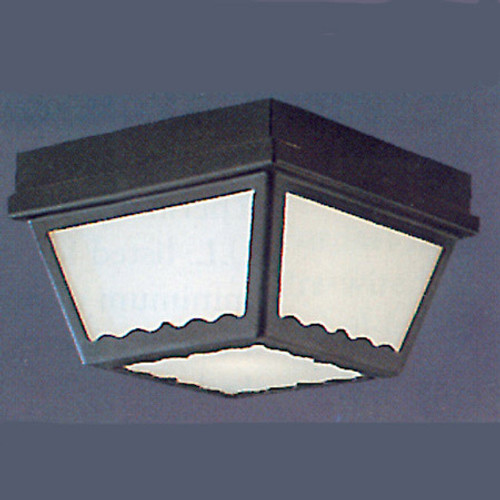 Two-light Black finish plastic outdoor light with white plastic diffuser. SL7597