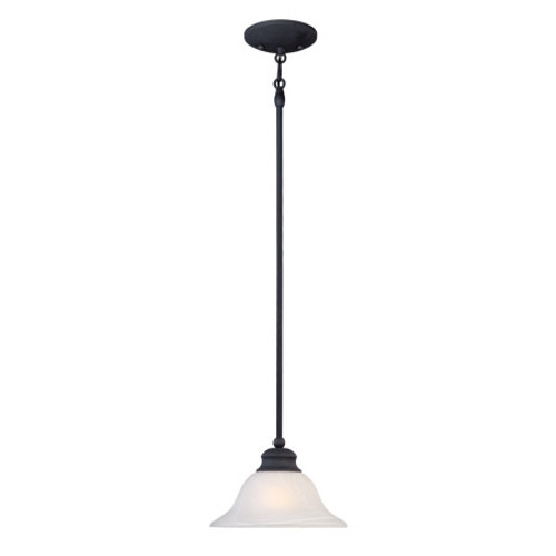 One-light pendant in Painted Bronze finish. Alabaster style glass shade. SL829663