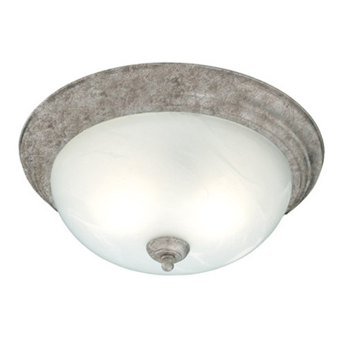 One-light ceiling mount fixture in Painted Bronze finish. Etched alabaster style glass SL869163