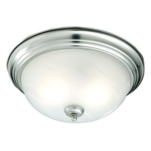 One-light ceiling mount fixture in Brushed Nickel finish. Etched alabaster style glass SL869178