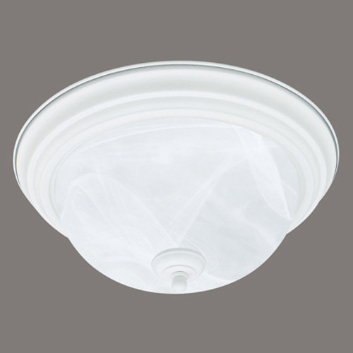 Two-light ceiling mount fixture in Textured White finish. Etched alabaster style glass SL869218