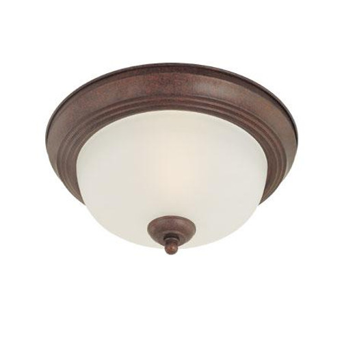 Pendenza 5.5in Two-light ceiling flush mount in Oiled Bronze finish with etched glass SL878215