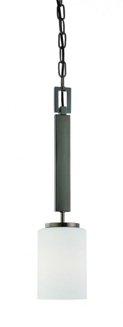 Pendenza 20in One-light pendant in Oiled Bronze finish with etched glass SL891015